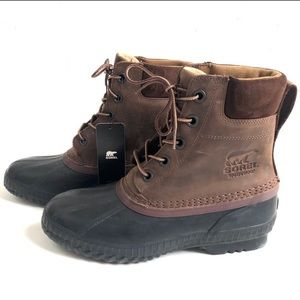 NWT SOREL Cheyenne Brown Waterproof Lace-Up Boots